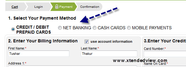 you can see the net banking option here