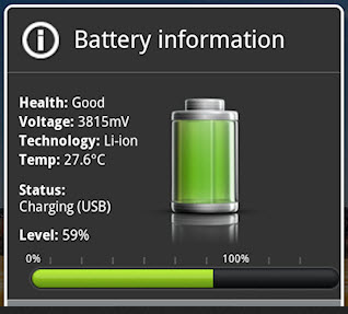 Android battery info