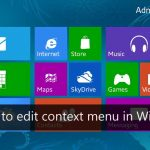 How to edit context menu in Windows 8