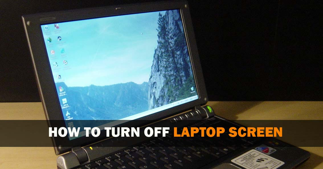 how to turn off latop screen