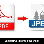 Step By Step Guide To Convert PDF File into JPG Format