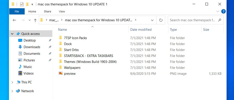 extracted windows theme files