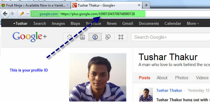 Google authorship profile