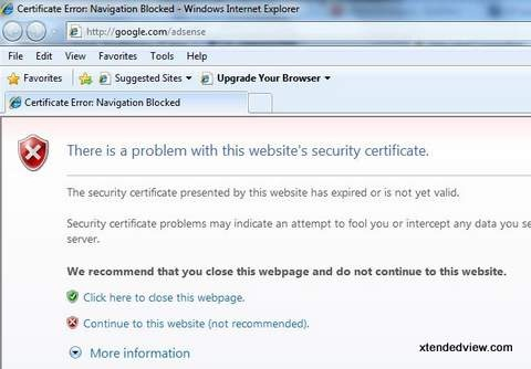 The easiest way to resolve security certificate error problem while ...