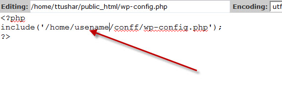 move wp-config.php